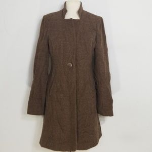 The Fisher Project Brown Alpaca Wool Jacket XS